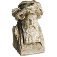 King Richard Head 11in. - Fiber Stone Resin - Indoor/Outdoor Statue