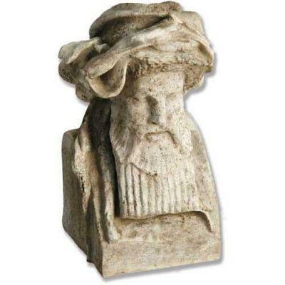 King Richard Head 11in. - Fiber Stone Resin - Indoor/Outdoor Statue -  - FS091