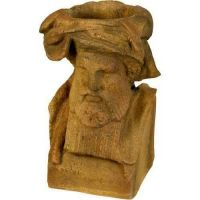 King Richard Head Planter 11in. - Fiber Stone Resin - Outdoor Statue