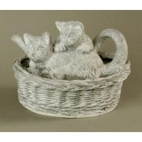 Kittens At Play 8in. - Fiber Stone Resin - Indoor/Outdoor Statue