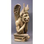 Le Colossal Spitting Gargoyle 27in. - Fiberglass - Statue