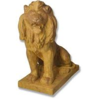 Lion 36in. Facing Left Or Right Fiber Stone Resin In/Outdoor Statue