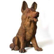 Little German Shepherd - Fiber Stone Resin - Indoor/Outdoor Statue