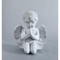Little Prayer Fiber Stone Resin Indoor/Outdoor Garden Statue/Sculpture