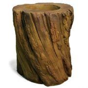 Log Planter Fiber Stone Resin Indoor/Outdoor Garden Statue/Sculpture