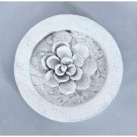 Magnolia Round Fiber Stone Resin Indoor/Outdoor Statue/Sculpture