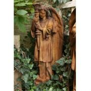 Majestic Angel Guard Right - Fiber Stone Resin - Indoor/Outdoor Statue