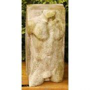 Male From Block 30.5in. Fiber Stone Resin Indoor/Outdoor Garden Statue