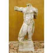 Male Remnant Nude Form 69in. Fiber Stone Resin Indoor/Outdoor Statue