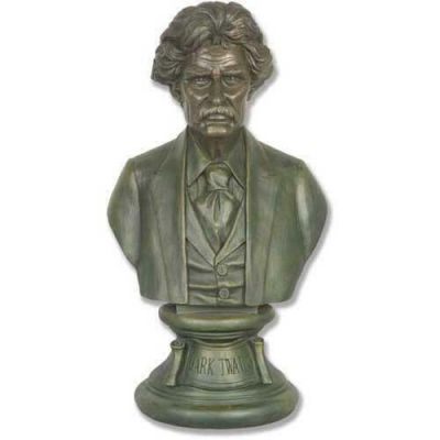Mark Twain Bust 18in. (21 Bronze) Fiberglass In/Outdoor Statue -  - F7412