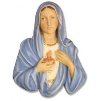 Mary Plaque Fiberglass Indoor Church Statue/Sculpture