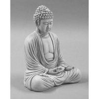 Meditating Buddha 18 Inch Fiberglass Indoor/Outdoor Statue