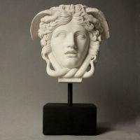 Medusa Head On Base 11in. - Indoor/Outdoor Statue