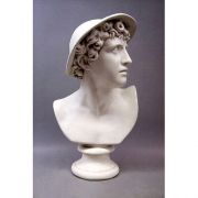 Mercury Bust 23in. - Fiberglass Resin - Indoor/Outdoor Garden Statue