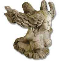 Mermaid Torso 26in. Fiber Stone Resin Indoor/Outdoor Garden Statue