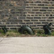 Lawn Dragon - Lochness/Nessie 3 Piece - Fiberglass - Outdoor Statue