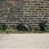 Moat Dragon - Roaring 3 Peices - Fiberglass - Outdoor Statue