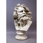 Moses Wind Swept Bust 24in. Fiberglass Indoor/Outdoor Statue