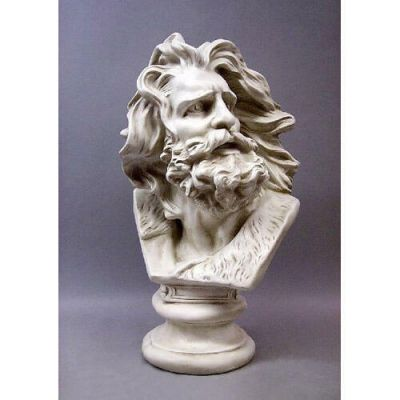 Moses Wind Swept Bust 24in. Fiberglass Indoor/Outdoor Statue -  - F9370