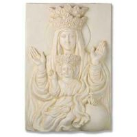 Mother & Child Plaque Rec 25 In. - Fiberglass - Outdoor Statue