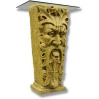 Mouth Of Truth Riser Stand Pedestal Statue Base 37in. - Fiberglass