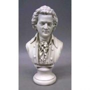 Mozart Bust Small 12in. High - Fiberglass - Outdoor Statue