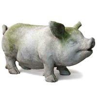 Mr Pot Belly Pig Fiber Stone Resin Indoor/Outdoor Statue/Sculpture