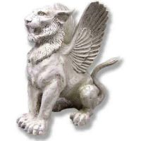 Mystical Winged Lion Griffin 19in. - Fiberglass - Statue