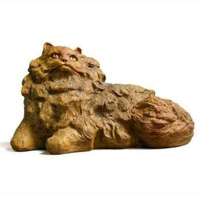 Nefi Cat - Fiber Stone Resin - Indoor/Outdoor Garden Statue/Sculpture -  - FS8585