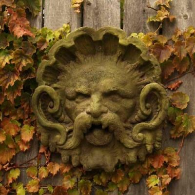 Neptune Mask Of Frigid Cold - Fiber Stone Resin - Outdoor Statue -  - FSAK24