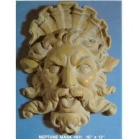 Neptune Trevi Mask 15in. - Fiberglass - Indoor/Outdoor Statue