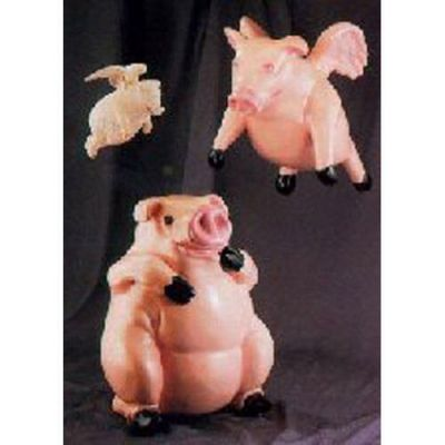 Obediah Pig 21in. - Fiberglass - Indoor/Outdoor Garden Statue -  - F804