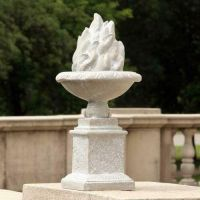 Olympia Flame Finial 21in. Fiber Stone Resin Indoor/Outdoor Statue