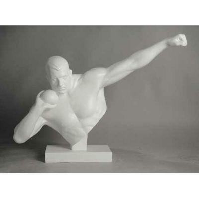 Olympic Shot Putter 25in. Fiberglass Indoor/Outdoor Statue -  - FDS312