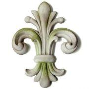 Orazio Fleur de lis Wall Finial Fiber Stone Resin Indoor/Outdoor