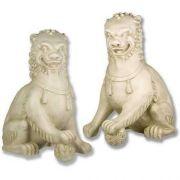Oriental Foo Dog Set - 35 Inch Fiberglass Indoor/Outdoor Statue
