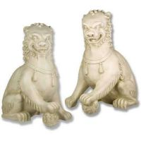 Oriental Foo Dog Set - 35 Inch Fiberglass Indoor/Outdoor Statue