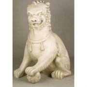 Oriental Foo Dog w/Left Paw Up - 35in. High Fiberglass Statue