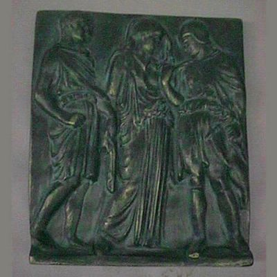 Orpheus, Eurydice & Hermes 9x8 In. Fiberglass - Outdoor Statue -  - T9320