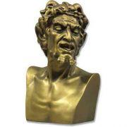 Pan Bust Snarled Teeth Fiberglass Indoor/Outdoor Garden Statue