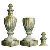 Pershing Finial Urn - Fiber Stone Resin - Indoor/Outdoor Garden Statue