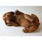 Playing Puppy On Back - Fiber Stone Resin - Indoor/Outdoor Statue
