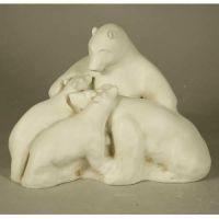 Polar Bear Family 11in. - Fiberglass - Indoor/Outdoor Statue