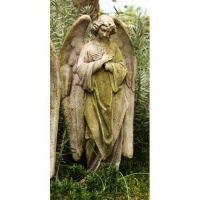 Prayer Of Angel (C) 18in. Fiber Stone Resin Indoor/Outdoor Statue
