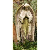 Prayer Of Angel (P) 18in. Fiber Stone Resin Indoor/Outdoor Statue
