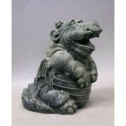 Puffing Dragon 12in. - Fiberglass - Indoor/Outdoor Garden Statue
