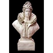 Queen Elizabeth Bust 46in. - Fiberglass - Indoor/Outdoor Statue
