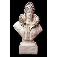 Queen Elizabeth Bust 46in. - Fiberglass - Indoor/Outdoor Statue