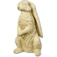 Rabbit With Long Ears 13in. - Fiberglass Resin - Indoor/Outdoor Statue
