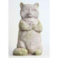 Raccoon 20 Inch Fiber Stone Resin Indoor/Outdoor Statue/Sculpture